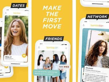 Bumble dating app. AppStore.