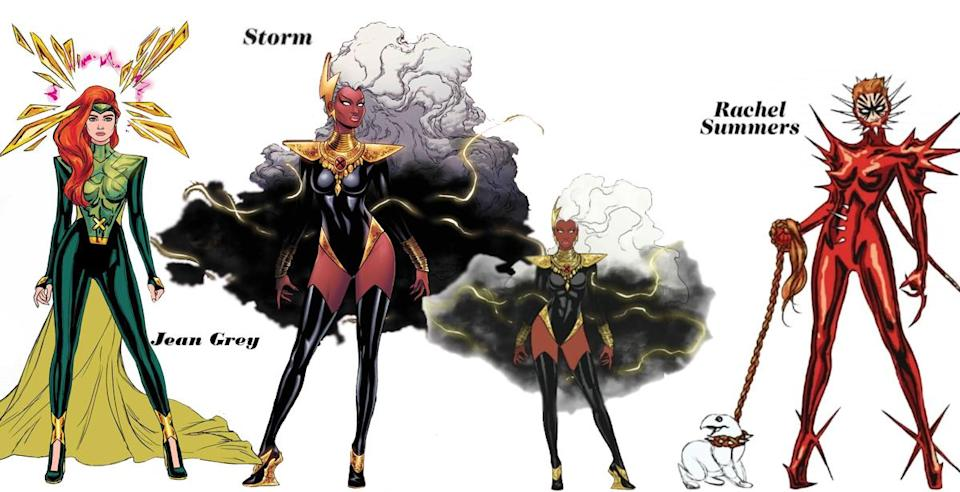 Jean Grey and Rachel Summers are a cosmic mother and daughter duo, but when it comes to fashion, Storm is royalty.