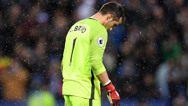 <p>Since signing from Barcelona, Claudio Bravo has struggled for clean sheets and has succeeded in spreading panic throughout his defence in far too many games this season.</p> <p><br> With Joe Hart still on their books, it seems a little odd that Bravo is still Pep's first-choice goalkeeper.</p>
