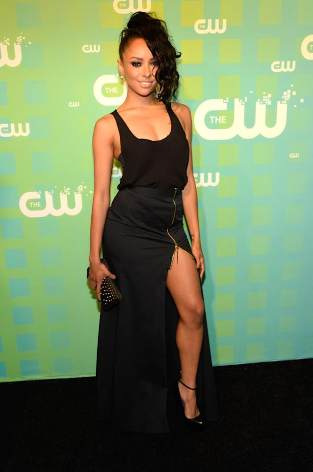 "Kat Graham (""The Vampire Diaries"") attends The CW's 2012 Upfronts on May 17, 2012 in New York City."
