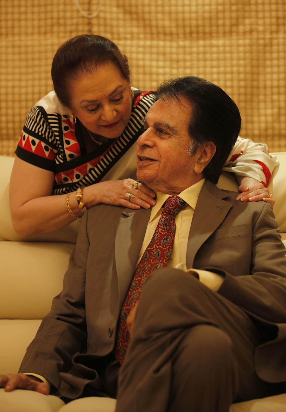 Dilip Kumar is survived by his wife Saira Banu. (Photo by Vijayanand Gupta/Hindustan Times via Getty Images)