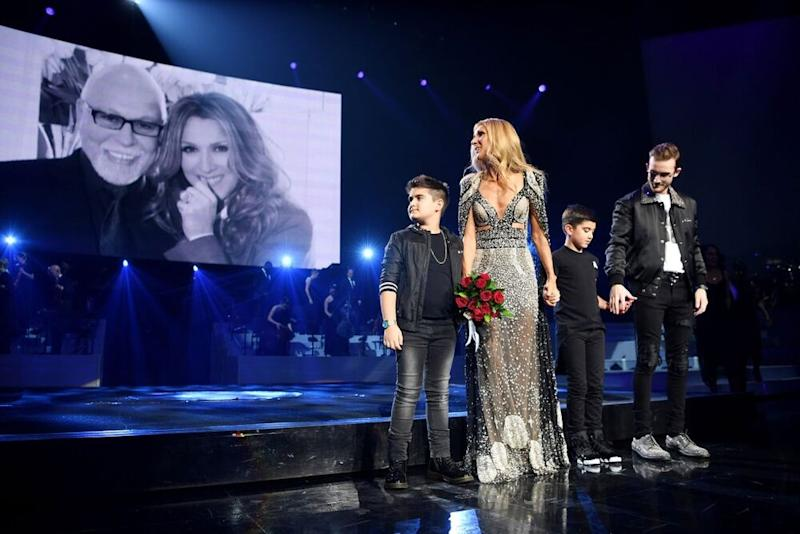 Céline Dion with sons Réne-Charles, Nelson and Eddy | Denise Truscello/Getty Images