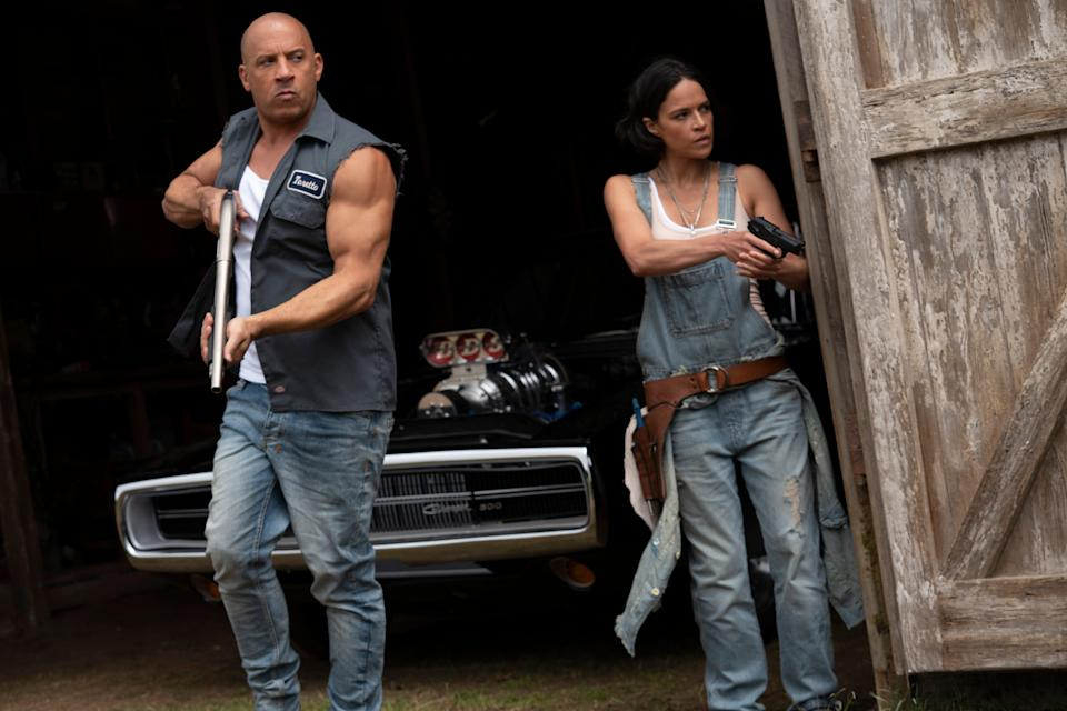"Vin Diesel and Michelle Rodriguez return for another ""Fast & Furious"" installment of action-packed vehicular mayhem in ""F9."""