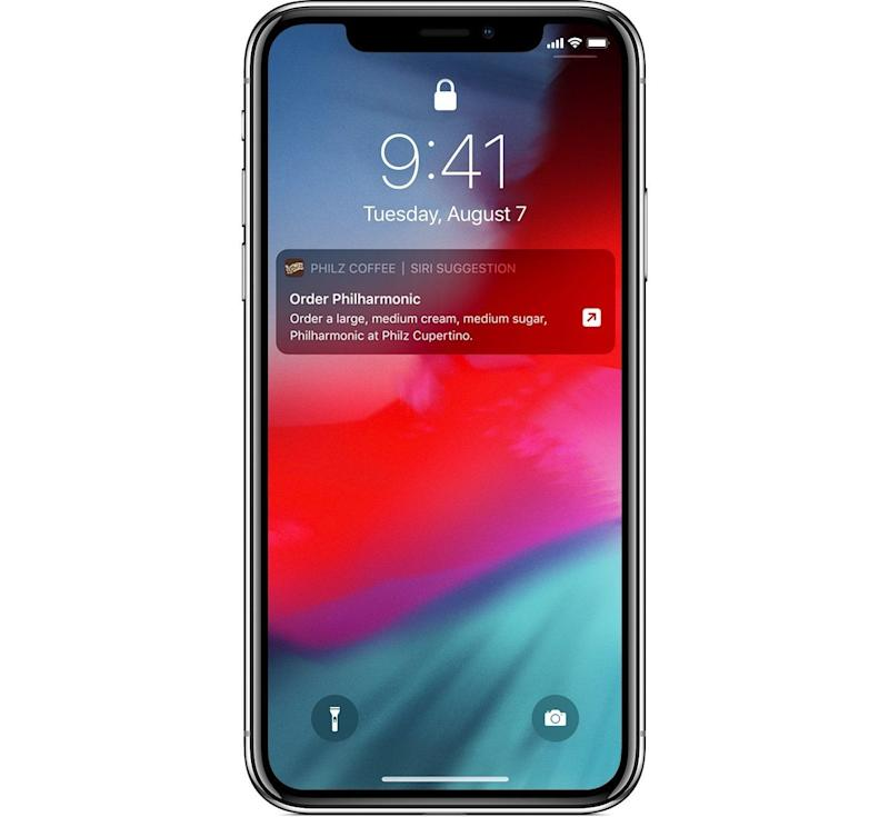 Apple's Siri Shortcuts also provide you with predictive notifications on your lock screen. (image: Apple)