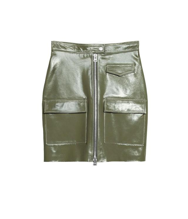 "<p>Utilitarian Patent Leather Skirt, $215,<a href=""https://www.stories.com/us/Ready-to-wear/Bottoms/Skirts/Utilitarian_Patent_Leather_Skirt/590576-0559445001.2"" rel=""nofollow noopener"" target=""_blank"" data-ylk=""slk:stories.com"" class=""link rapid-noclick-resp""> stories.com </a> </p>"