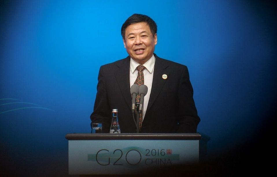 Zhu Guangyao, then China's finance vice-minister, speaks in 2016 at a press conference at the G20 Media Centre in Hanghzou, capital city of east China's Zhejiang province. Photo: Simon Song