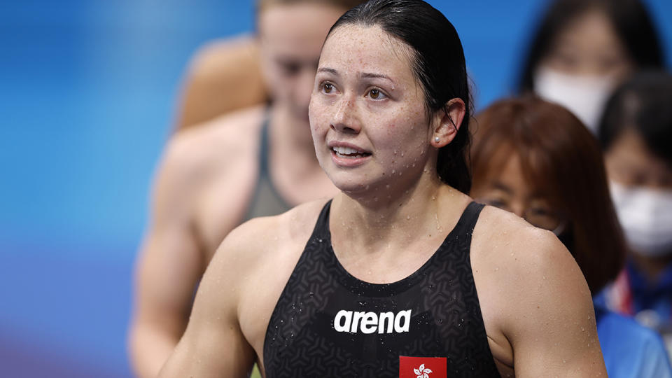 Siobhan Haughey, pictured here after winning silver in the 200m freestyle.