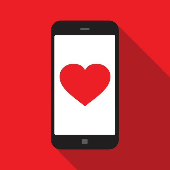 dating app, heart