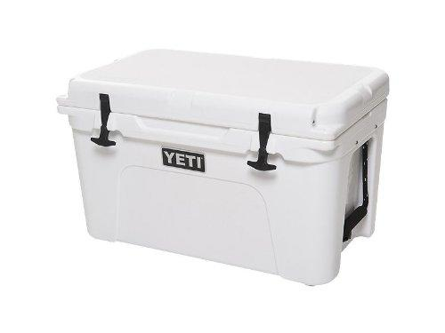 """<p><strong>YETI</strong></p><p>amazon.com</p><p><a href=""""http://www.amazon.com/dp/B01N3ATFY0/?tag=syn-yahoo-20&ascsubtag=%5Bartid%7C2139.g.27612256%5Bsrc%7Cyahoo-us"""" target=""""_blank"""">BUY IT HERE</a></p><p>$349.99</p><p>Let's start with the classic ice chest. The YETI Tundra 65 includes 3 inches of permafrost insulation and boasts a """"virtually indestructible"""" armored exterior. Its rubber latches also mean you avoid those busted plastic things. It might be one of the pricier coolers, but's it's one that will endure through the ages. </p>"""