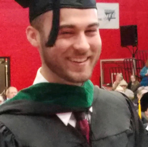 This undated photo provided by the Cumer family shows Nicholas Cumer, one of the victims in a shooting at a popular nightlife area in Dayton, Ohio, Sunday, Aug. 4, 2019. Cumer was a graduate student in the master of cancer care program at Saint Francis University. (Courtesy of the Cumer family via AP)