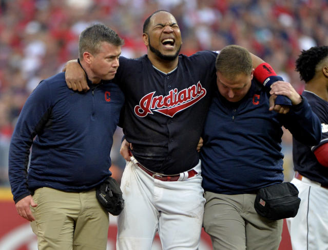 Edwin Encarnacion may be able to return after missing two games. (AP Photo/Phil Long)