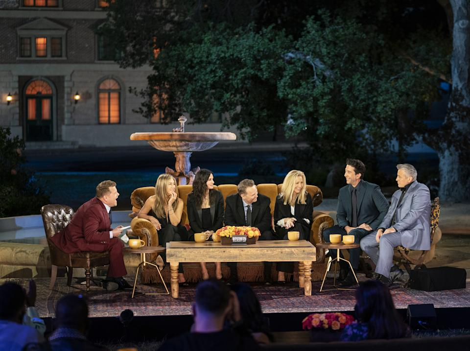 The cast if Friends on the reunion