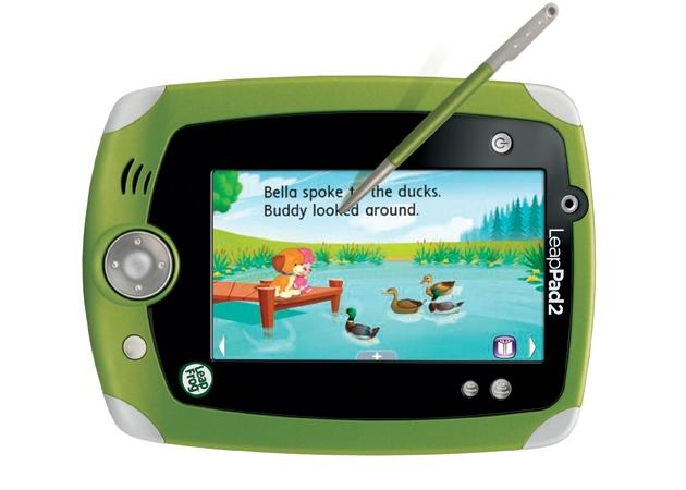 "<b>LeapPad 2</b> <br><br> Can't get your iPad away from the kids? The LeapPad 2 is purpose-built for toddlers through nine-year-olds, boasting 4GB of memory, front and back cameras, a 5"" touchscreen, and access to a library of over 300 apps and games. Who needs Apple?<br><br> <a href=""http://www.amazon.com/LeapFrog-32610-LeapPad2-Explorer-Green/dp/B0089RPUHO"">Buy at Amazon</a>"