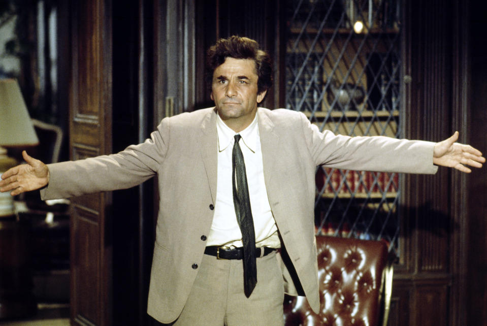 COLUMBO -- Pictured: Peter Falk as Lt. Columbo  (Photo by NBC/NBCU Photo Bank via Getty Images)