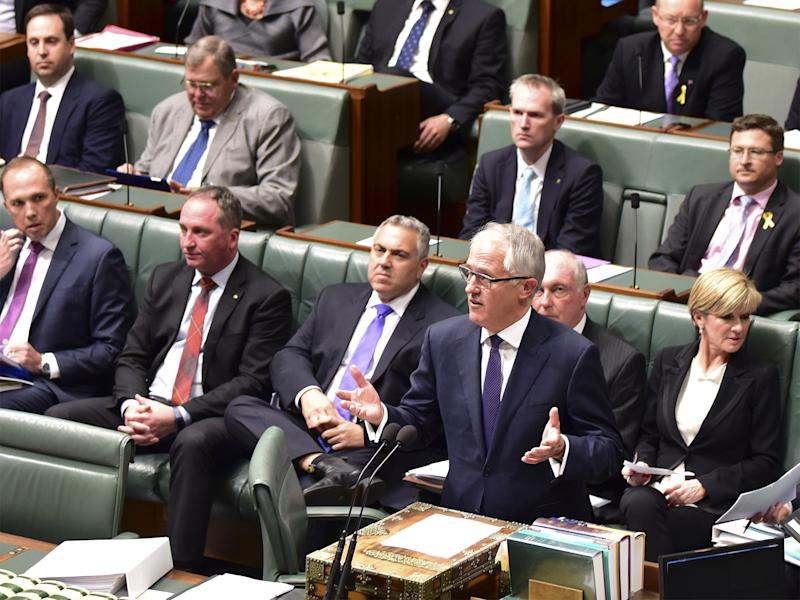 Malcolm Turnbull makes an address to Australian Parliament on Tuesday: AP