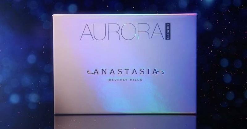 Anastasia Beverly Hills has released preview swatches of the brand's highly anticipated Aurora Glow Kit