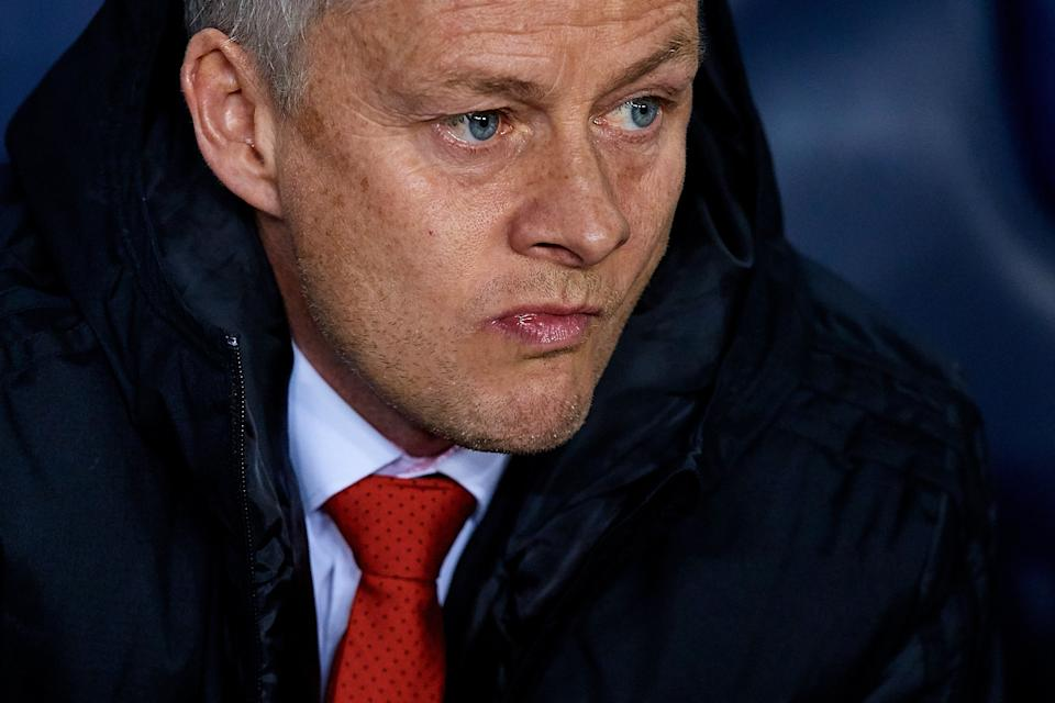 BARCELONA, SPAIN - APRIL 16:  Ole Gunnar Solskjaer head coach of Manchester United looks on prior to the UEFA Champions League Quarter Final second leg match between FC Barcelona and Manchester United at Camp Nou on April 16, 2019 in Barcelona, Spain. (Photo by David Aliaga/MB Media/Getty Images)