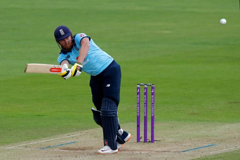 Quickfire fifty - England's Jonny Bairstow hits out during the second One-Day International against Ireland at the Ageas Bowl in Southampton