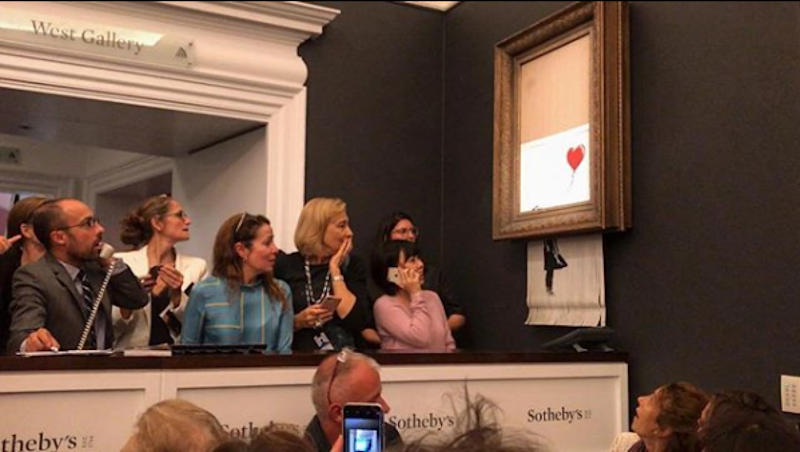 Art contemporain. Sotheby's, grande perdante de la supercherie Banksy
