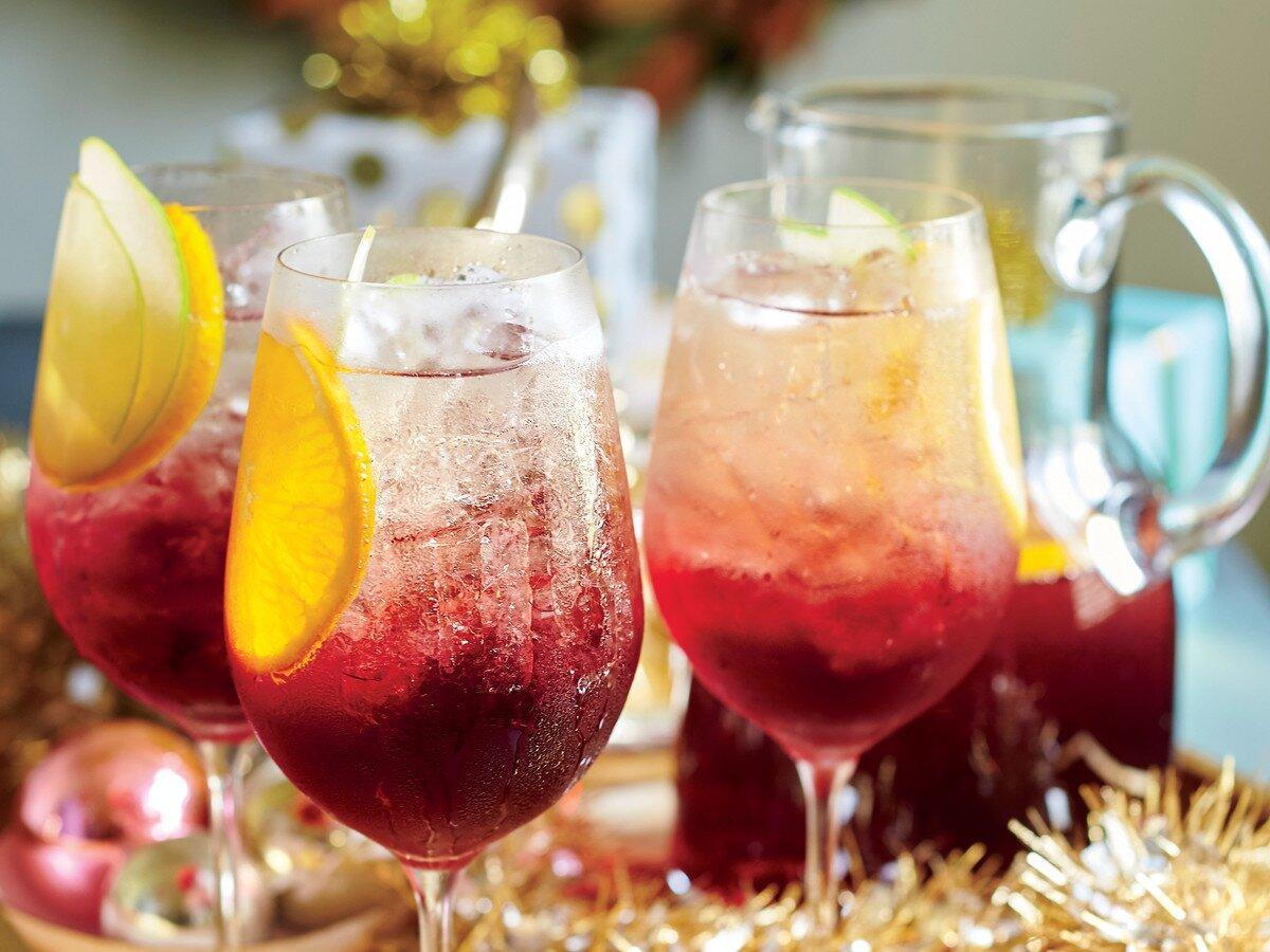 "<p>This wintry, ruby-red spin on sangría is a staff favorite but comes with a warning: It goes down easy. Make it a day ahead, and add the Champagne right before serving.</p> <p><a href=""https://www.myrecipes.com/recipe/cranberry-sangria-punch"">Cranberry Sangría Punch Recipe</a></p>"