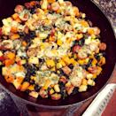 """<p>Liz loves to cook, so she had to train herself how to do it in a healthier way. """"For me, modifying my diet has never been about <a href=""""https://www.popsugar.com/fitness/Portion-Control-Tip-44173779"""" class=""""link rapid-noclick-resp"""" rel=""""nofollow noopener"""" target=""""_blank"""" data-ylk=""""slk:portion control"""">portion control</a>. Instead, it's been about making better choices about ingredients and proportions so that I can still eat real food and feel full at a fraction of the calorie load.""""</p> <p>In the past, she'd make three slices of battered and fried zucchini parmesan, topped with tomato sauce and cheese, served over two cups of penne pasta with a side of buttered sweet corn. Now, """"I know through the Lose It! app that the meal probably packed north of 1,800 calories!"""" Liz said. </p> <p>If she was to redo <a href=""""https://www.popsugar.com/food/Baked-Zucchini-Parmesan-36140847"""" class=""""link rapid-noclick-resp"""" rel=""""nofollow noopener"""" target=""""_blank"""" data-ylk=""""slk:zucchini parmesan"""">zucchini parmesan</a> today, she'd coat the slices with breadcrumbs and bake them in a high-heat oven to get them crispy. She'd serve them over a big bowl of roasted spaghetti squash with low-sodium marinara and reduced-fat mozzarella, omitting the side of corn. """"My 2019 version would come in somewhere around 450 calories instead of the 1,800-calorie bomb from 2014 - not to mention that it would still be delicious and filling!""""</p>"""