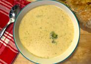 """<p>This broccoli cheddar soup is one of <a href=""""https://www.thedailymeal.com/cook/best-cheese-recipes?referrer=yahoo&category=beauty_food&include_utm=1&utm_medium=referral&utm_source=yahoo&utm_campaign=feed"""" rel=""""nofollow noopener"""" target=""""_blank"""" data-ylk=""""slk:the absolute best recipes for cheese lovers"""" class=""""link rapid-noclick-resp"""">the absolute best recipes for cheese lovers</a>. Serve with a fresh baguette and an apple for the full Panera experience.</p> <p><a href=""""https://www.thedailymeal.com/recipes/panera-bread-brocolli-cheddar-soup-recipe?referrer=yahoo&category=beauty_food&include_utm=1&utm_medium=referral&utm_source=yahoo&utm_campaign=feed"""" rel=""""nofollow noopener"""" target=""""_blank"""" data-ylk=""""slk:For the Panera Broccoli Cheddar Soup Copycat recipe, click here."""" class=""""link rapid-noclick-resp"""">For the Panera Broccoli Cheddar Soup Copycat recipe, click here.</a></p>"""