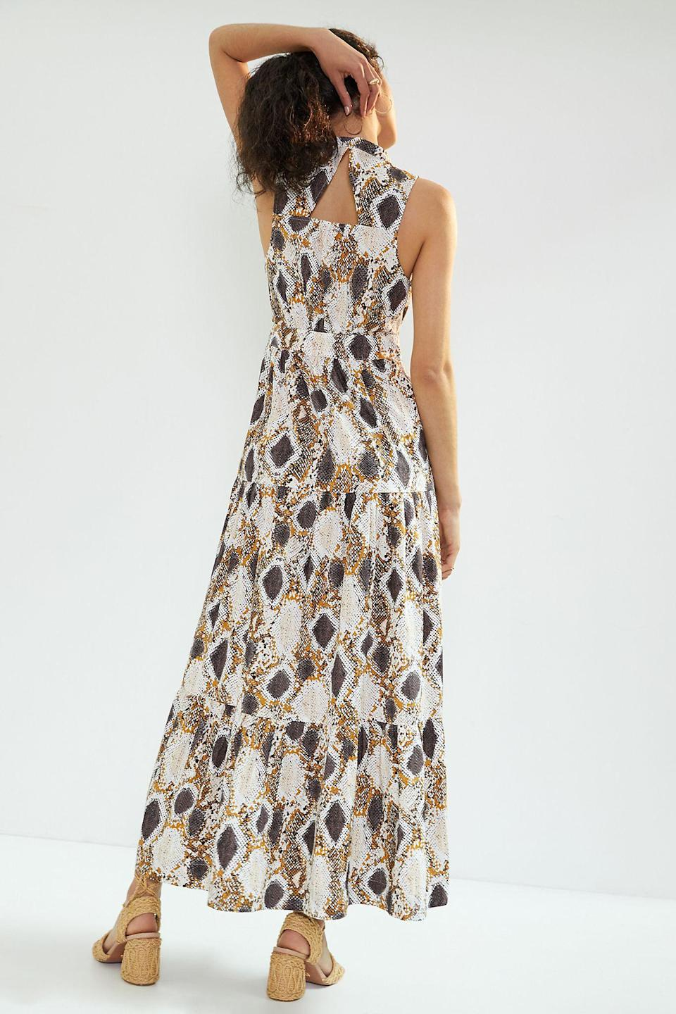 """<h2>Maeve Snake-Printed Maxi Dress</h2><br><strong>Sizes Available: 16W-26W</strong><br><br><em>Shop <strong><a href=""""http://anthropologie.com/shop/maeve-puff-sleeved-mini-dress?color=035&type=PLUS&quantity=1"""" rel=""""nofollow noopener"""" target=""""_blank"""" data-ylk=""""slk:Anthropologie"""" class=""""link rapid-noclick-resp"""">Anthropologie</a></strong></em><br><br><strong>Maeve</strong> Maeve Snake-Printed Maxi Dress, $, available at <a href=""""https://go.skimresources.com/?id=30283X879131&url=https%3A%2F%2Fwww.anthropologie.com%2Fshop%2Fmaeve-snake-printed-maxi-dress%3Fcategory%3Dplus-size-dresses%26color%3D015%26type%3DPLUS%26viewcode%3Db%26quantity%3D1"""" rel=""""nofollow noopener"""" target=""""_blank"""" data-ylk=""""slk:Anthropologie"""" class=""""link rapid-noclick-resp"""">Anthropologie</a>"""