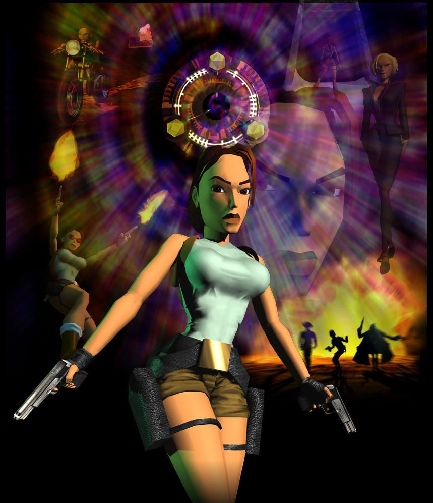 """<p>Toby Gard mashes up Tank Girl and Cherry, with a heaping helping of Indiana Jones to create Lara Croft (voiced by actress Shelley Bond) """"as an empowered woman"""" for her blockbuster initial outing. Critics praise the game's female action hero and puzzle-happy adventure plot, while fans snap up 7.5 million copies. (Photo: Square Enix) </p>"""