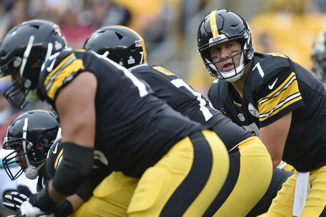 Pittsburgh Steelers quarterback Ben Roethlisberger threw five interceptions in a loss to the Jaguars. (AP)