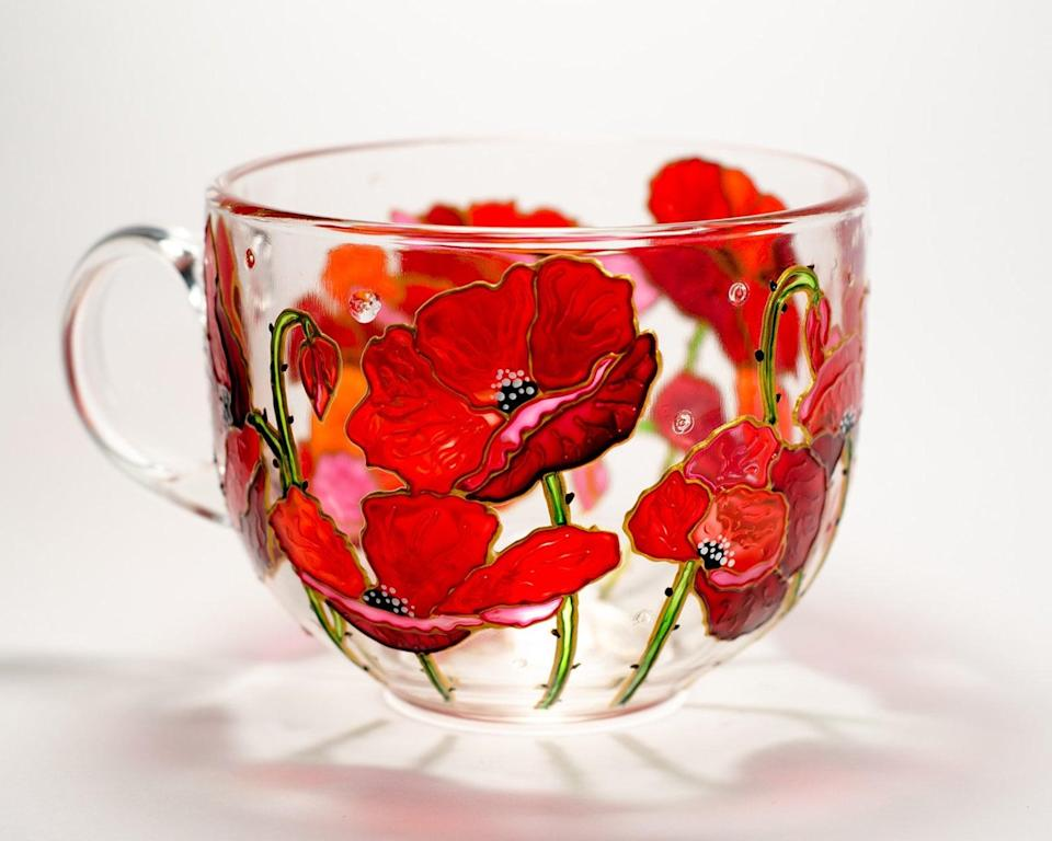 <p>How stunning is this <span>Personalized Red Poppies and Wildflowers Mug</span> ($29, originally $34)?! It'll be the mug they reach for every time they want to get cozy with a cup of tea. </p>