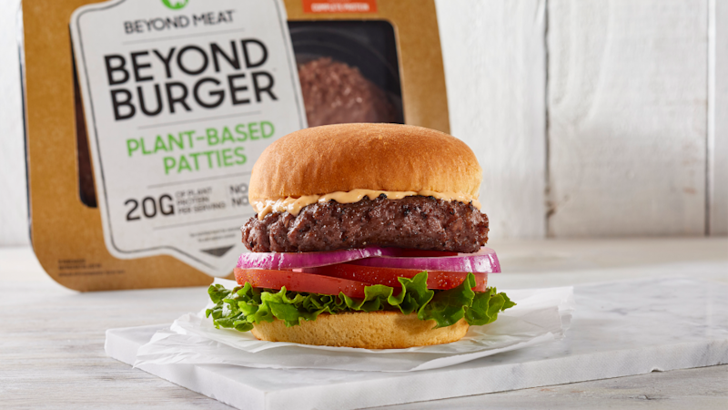 "A ""meatier"" Beyond Meat burger. (Source: Beyond Meat)"