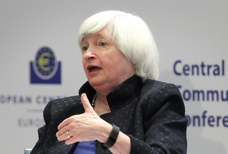 Federal Reserve Chair Janet Yellen announced on Monday that she would leave the central bank in February. (DANIEL ROLAND/Getty Images)
