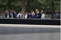 <p>Their visit to the memorial falls less than two weeks since the 20 year anniversary of the 9/11 attacks. </p>