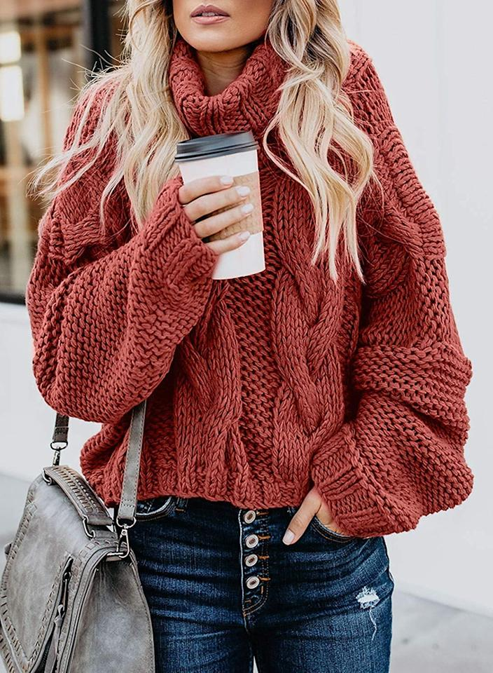 "<p>Be cozy in this <product href=""https://www.amazon.com/Asvivid-Chunky-Pullover-Sweater-Lightweight/dp/B07XB47WL7/ref=sr_1_21?crid=MZZ72RMDFFY8&amp;keywords=fall%2Bfashion%2Bfor%2Bwomen%2B2019&amp;qid=1568743080&amp;sprefix=fall%2Bfas%2Caps%2C191&amp;sr=8-21&amp;th=1&amp;psc=1"" target=""_blank"" class=""ga-track"" data-ga-category=""internal click"" data-ga-label=""https://www.amazon.com/Asvivid-Chunky-Pullover-Sweater-Lightweight/dp/B07XB47WL7/ref=sr_1_21?crid=MZZ72RMDFFY8&amp;keywords=fall%2Bfashion%2Bfor%2Bwomen%2B2019&amp;qid=1568743080&amp;sprefix=fall%2Bfas%2Caps%2C191&amp;sr=8-21&amp;th=1&amp;psc=1"" data-ga-action=""body text link"">Asvivid Turtleneck Sweater</product> ($34).</p>"