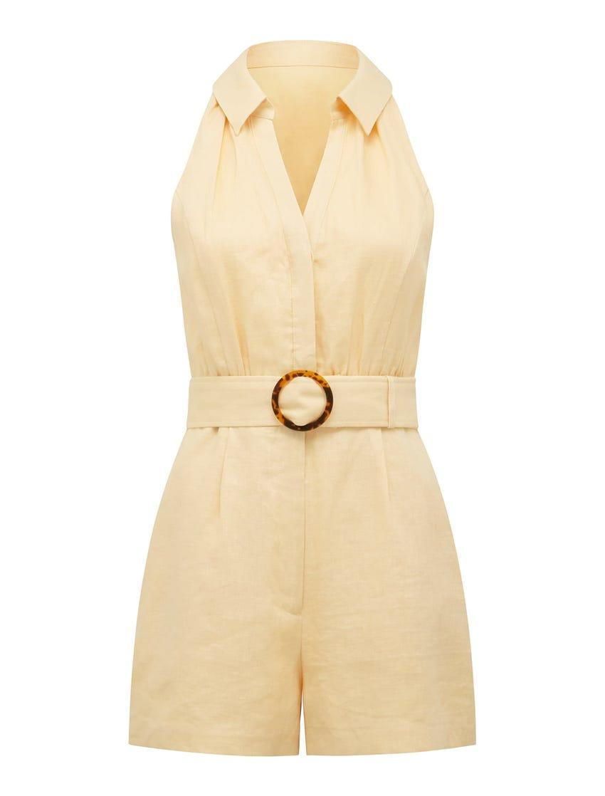 Forever New Rhianna Linen Belted Playsuit, $129.99