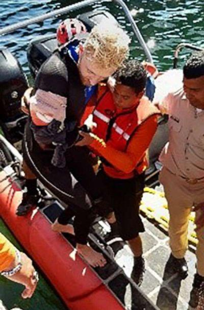 PHOTO: A 23-year-old U.S. citizen was attacked by a shark while diving off the coast of Baja California Sur, Mexico, Nov. 11, 2019. (Mexican Navy)