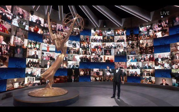 Jimmy Kimmel hosted this year's Emmy Awardsamid the coronavirus pandemic and social distancing guidelines.