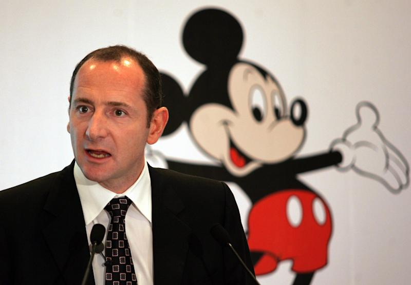 Walt Disney International President Andy Bird speaks during a press conference in Bombay, India, Tuesday, July 25, 2006. Bird announced that Walt Disney has acquired leading Indian children's channel, Hungama TV, and has taken strategic stake in UTV Software Communications limited. (AP Photo/Rajesh Nirgude)