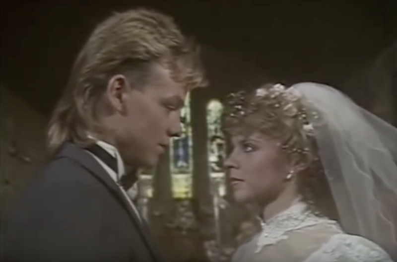 Their wedding episode was watched by nearly 20 million viewers (Credit: Neighbours/Grundy Television)