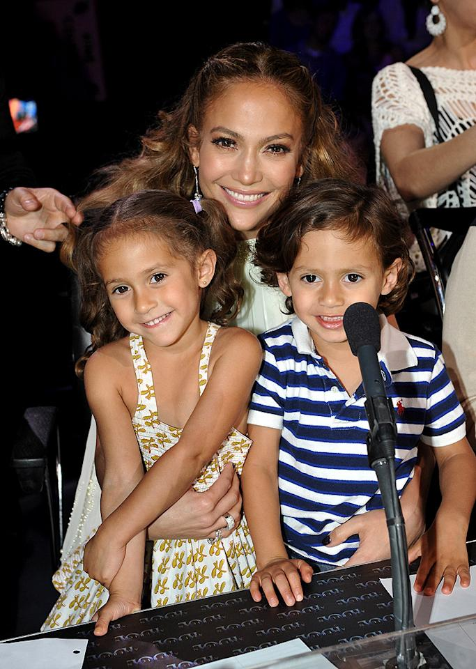 "Jennifer Lopez had some extra help at the judges' table on Thursday night when her adorable 4-year-old twins Emme and Max came to visit her on the set of ""American Idol."" How cute are J.Lo's little ones? (5/10/2012)"