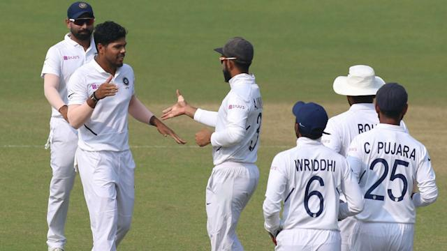 Umesh Yadav finished with 5-53 to help India claim a record fourth successive innings win in Tests, crushing poor Bangladesh.