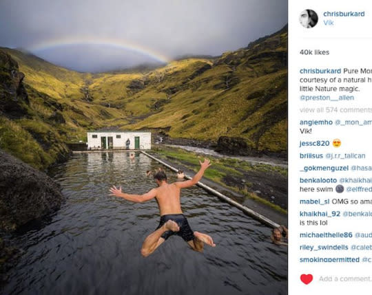 """<p>Chris Burkard really was not on my radar until I heard his name at the recent TBEX conference.Then he was suggested by <a href=""""https://twitter.com/andrewmhickey"""">Andrew Hickey</a>, and I had to check his Instagram feed. Wow, his photos are captivating, amazing, and compelling.<i> (Photo: <a href=""""https://www.instagram.com/chrisburkard/"""">@chrisburkard</a>)</i> <br /></p>"""