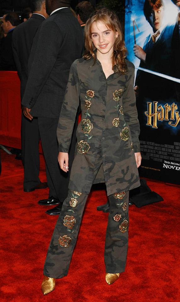 <p>After her breakout performance as lovable know-it-all Hermione Granger in the first installment, Watson returns to New York for the premiere of the second film. (Photo: Peter Kramer/AP Images) </p>