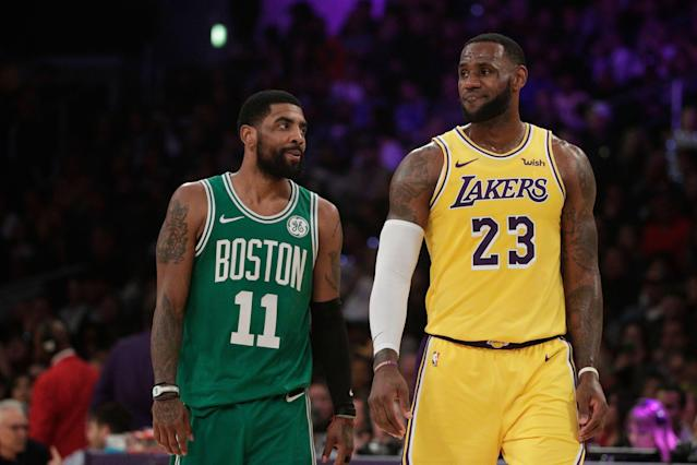 LeBron James knows he's the only legitimate bargaining chip the Lakers have in recruiting free agents to a franchise in turmoil. (AP)