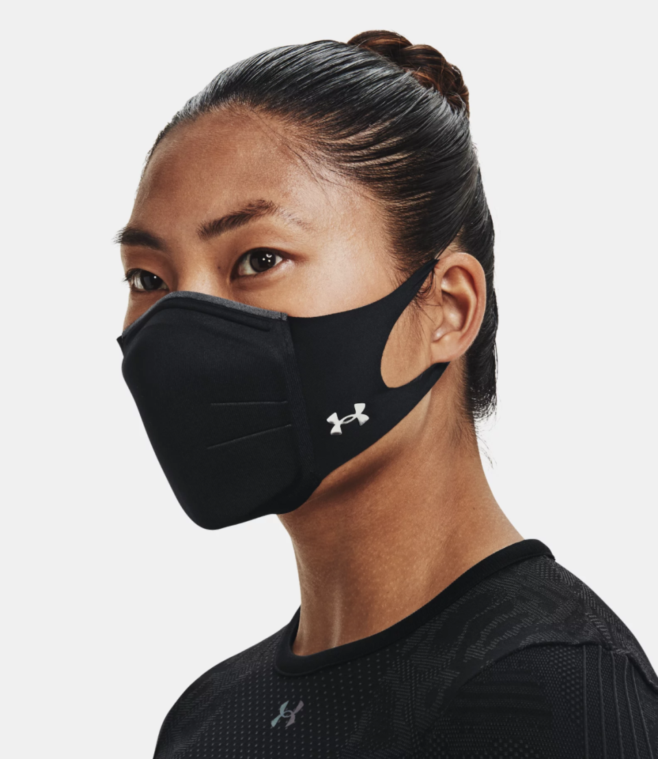 11 breathable masks to wear during your workout: UA SportsMask Featherweight in Black (Photo via Under Armour)