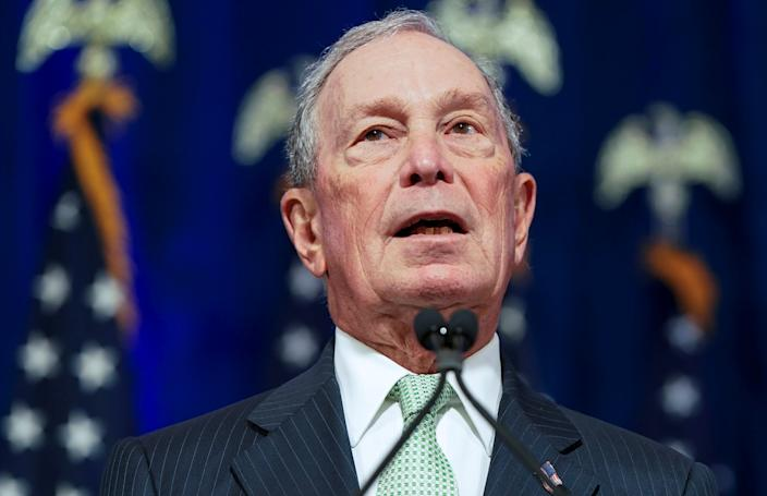 Democratic U.S. presidential candidate Michael Bloomberg addresses a news conference after launching his presidential bid in Norfolk, Virginia, U.S., November 25, 2019. REUTERS/Joshua Roberts