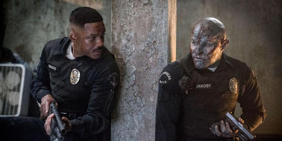 Will Smith and Jole Edgerton in Bright. (Netflix)