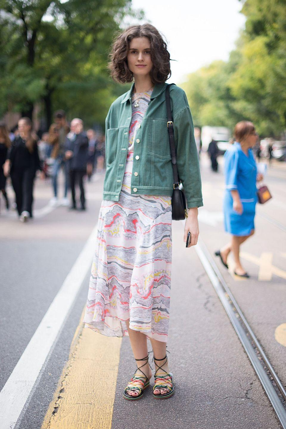 <p>Denim doesn't always have to be blue. Try red, white, pink, or an autumnal shade of green! </p>
