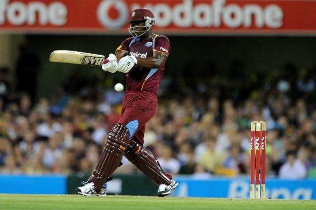 BRISBANE, AUSTRALIA - FEBRUARY 13:  Johnson Charles of the West Indies bats during the International Twenty20 match between Australia and the West Indies at The Gabba on February 13, 2013 in Brisbane, Australia.  (Photo by Matt Roberts/Getty Images)