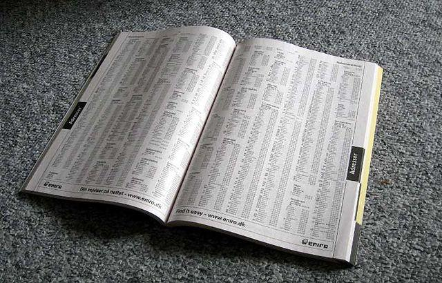 Phone directory (Photo: Tomasz Sienicki/Wikimedia Commons Under Creative Commons License)